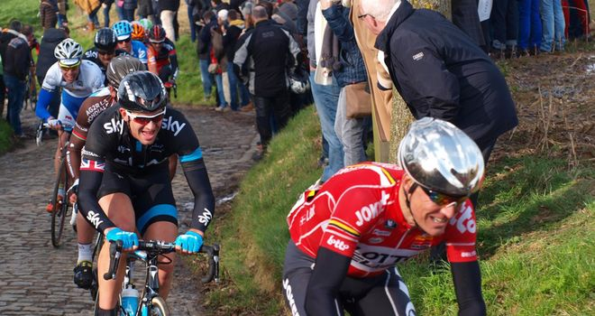 Neil watched Ian Stannard on the Oude Kwaremont