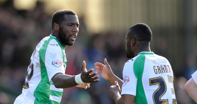 Ishmael Miller (left): Netted a brace for Yeovil