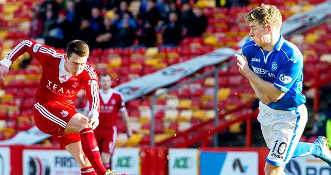 Ryan Jack: Scores the only goal of the game as Aberdeen beat St Johnstone