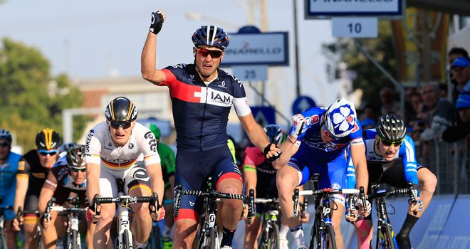 Matteo Pelucchi stunned the big sprint names by taking victory
