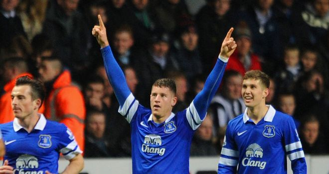 Ross Barkley: Opened Everton's tally at St James' Park with a stunning solo run