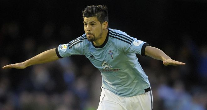 Nolito celebrates his winning goal