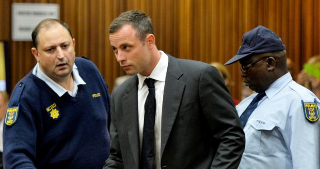 Oscar Pistorius: Broke down in tears