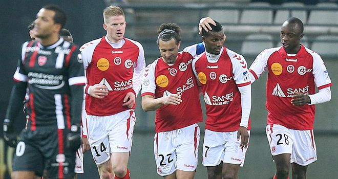 Celebrations for Reims against Valenciennes