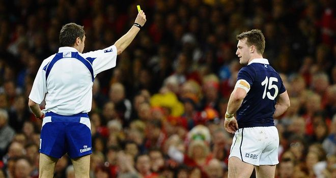 Stuart Hogg: Apologises for red card in record defeat against Wales