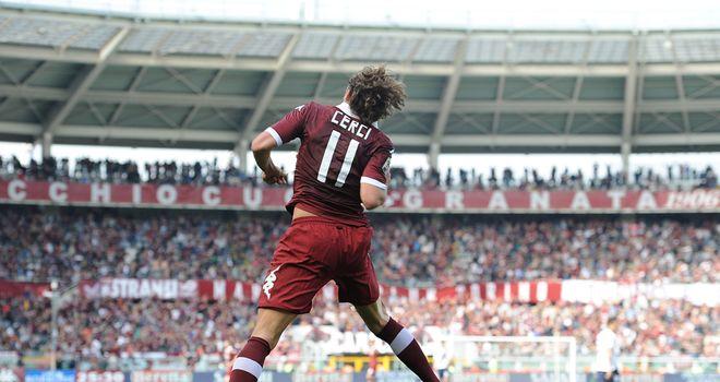 Alessio Cerci of Torino celebrates