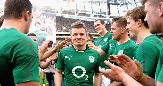 Brian O'Driscoll: The Ireland centre was given a guard of honour