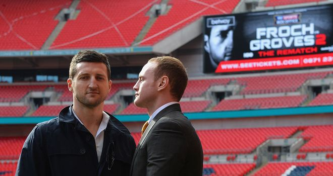 Froch and Groves: Will fight in front of a sold out Wembley Stadium