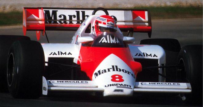 Niki Lauda in the MP4-2 at the 1984 Estoril season finale