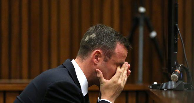Oscar Pistorius in court on day 13 in Pretoria