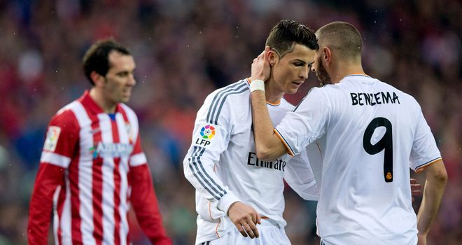 Ronaldo: Congratulated by Benzema