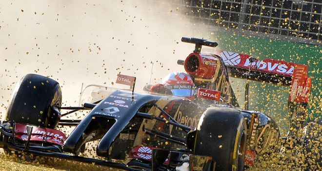 Romain Grosjean: Car still a handful