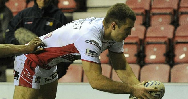 Iain Thornley: grabbed two tries in victory over London Broncos