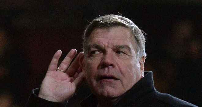 Sam Allardyce: Unimpressed by West Ham fans