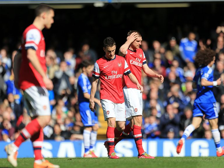 Arsenal suffered a heavy defeat at Chelsea on Saturday