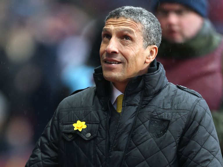 Chris Hughton: Sacked by Norwich on Sunday night