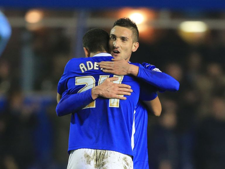 Federico Macheda celebrates his equaliser for Birmingham