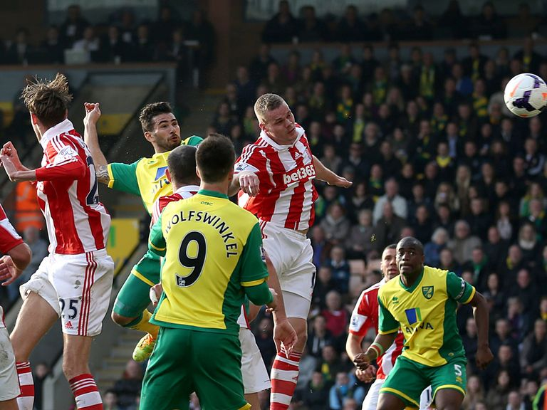 Bradley Johnson scored with his head against Stoke