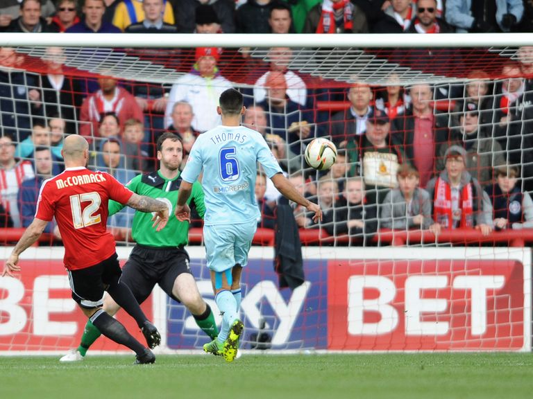 Alan McCormack nets in Brentford's win over Coventry