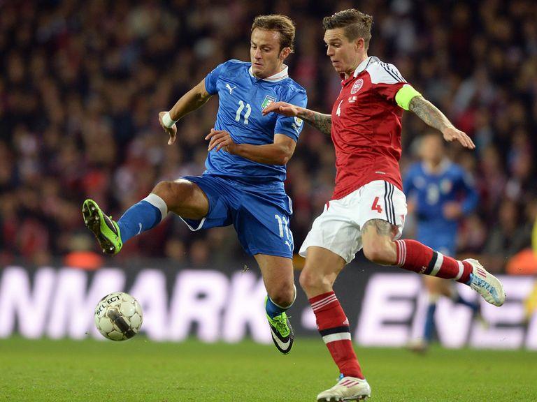 Daniel Agger (r): Backing Liverpool team-mate Raheem Sterling