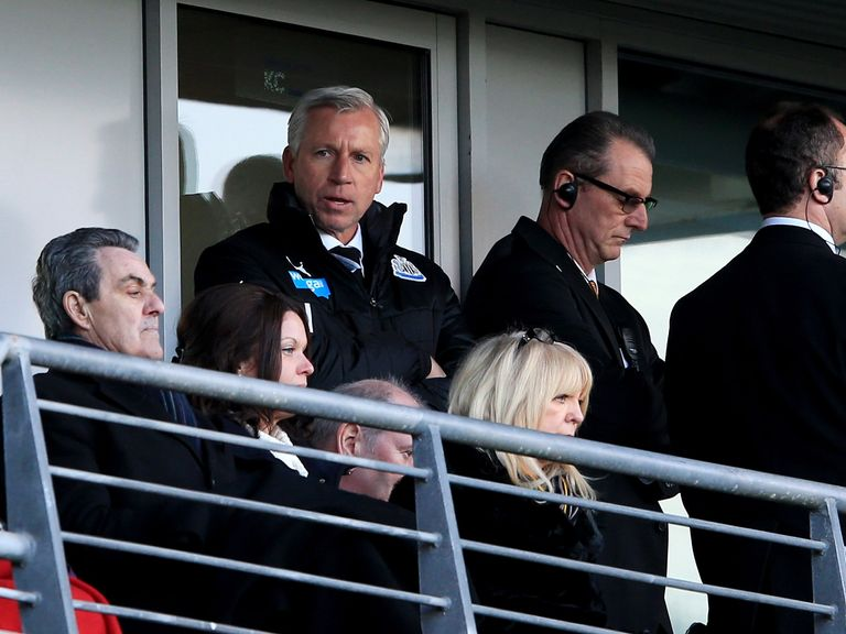 Newcastle boss Alan Pardew was sent off during Saturday's clash with Hull