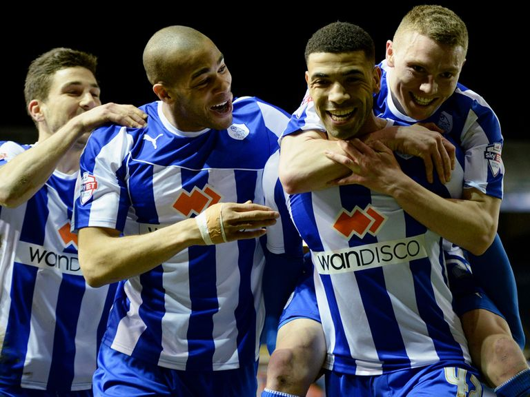 Celebrations for Leon Best and Sheffield Wednesday