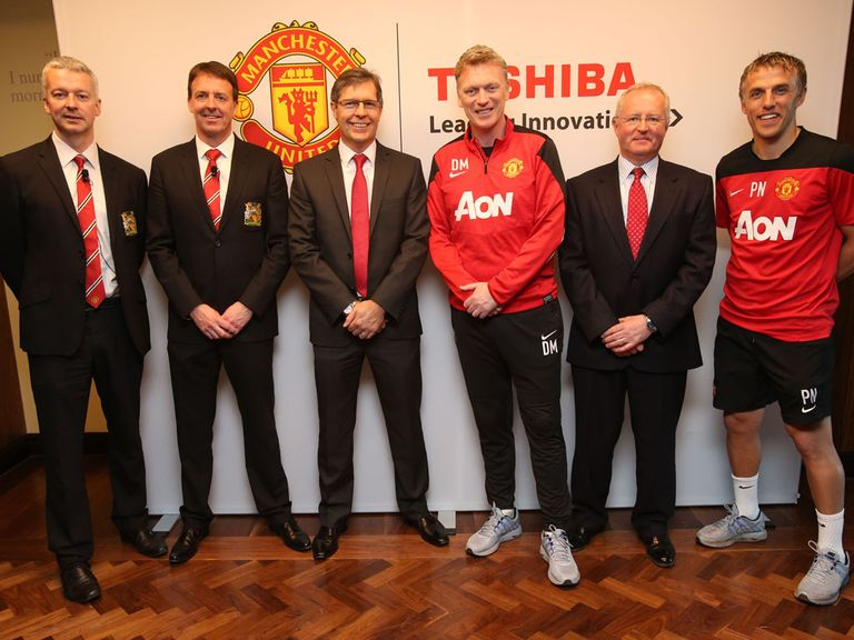 David Moyes at the unveiling of United's medical centre