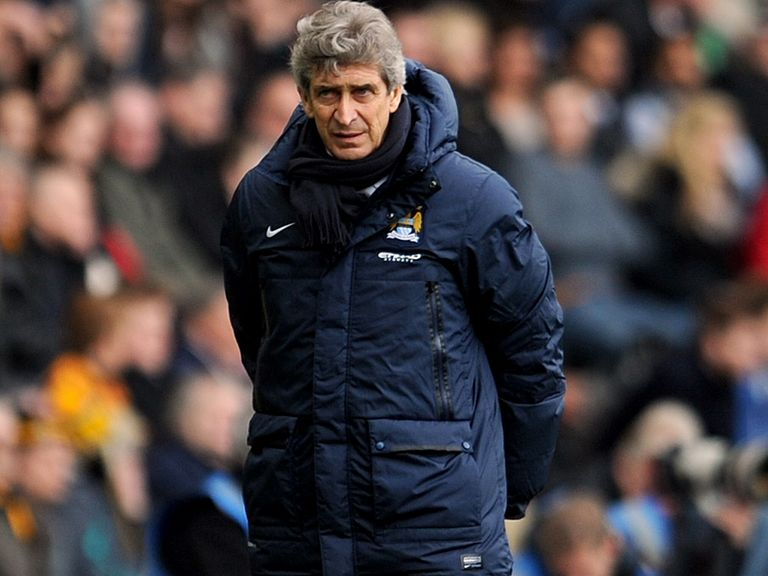 Manuel Pellegrini: Playing down his side's chances at Old Trafford