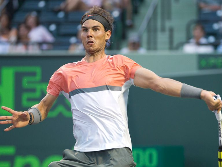 Rafael Nadal: In action against Istomin
