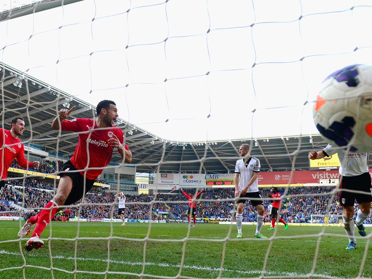 Steven Caulker found the net twice for Cardiff