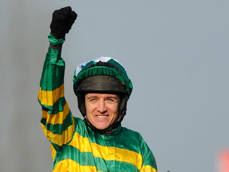 Barry Geraghty celebrates victory on More Of That