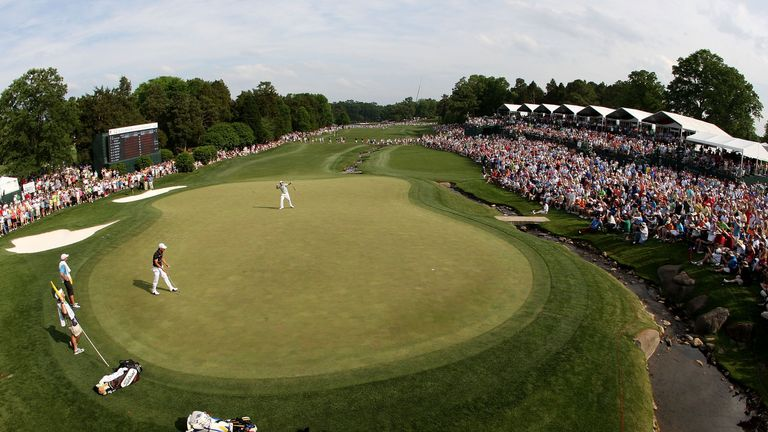 The 18th green at Quail Hollow