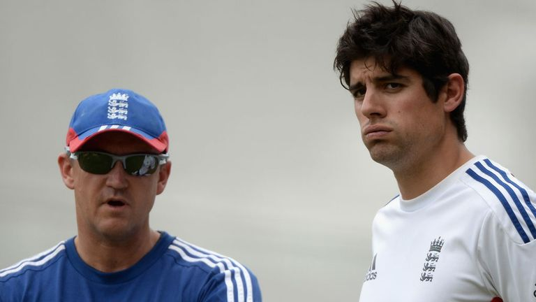 Alastair Cook (right): England skipper says he will continue to take advice from Andy Flower on captaincy