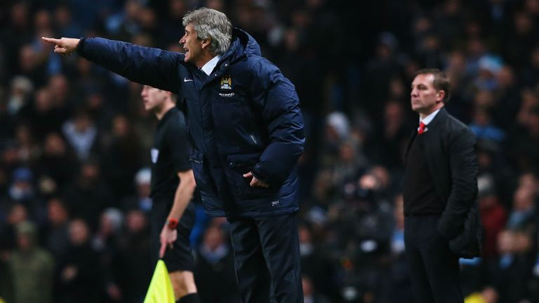 Manuel Pellegrini: Hoping to stay ahead of Brendan Rodgers to clinch title for Manchester City