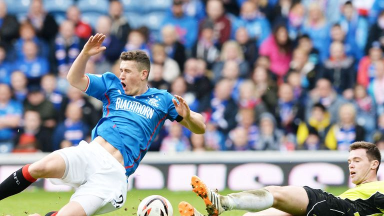 Fraser Aird: Rangers winger played a part in all three goals against Stranraer