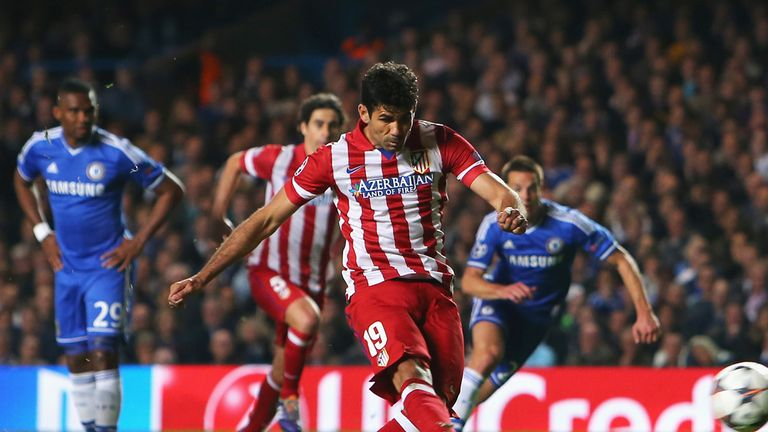 Diego Costa: Scores penalty for Atletico at Chelsea