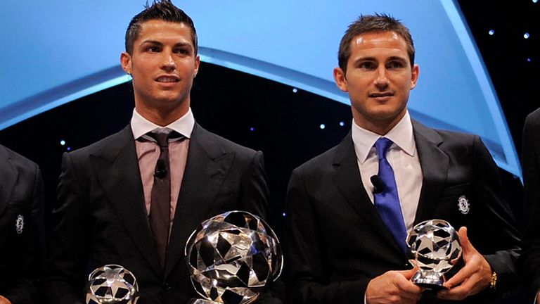 Cristiano Ronaldo and Frank Lampard were voted among the best players in 2007/08