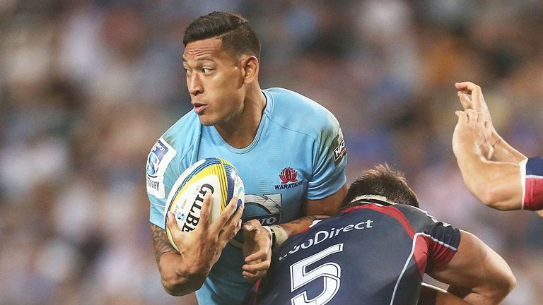 Israel Folau had to miss Saturday's Super Rugby match