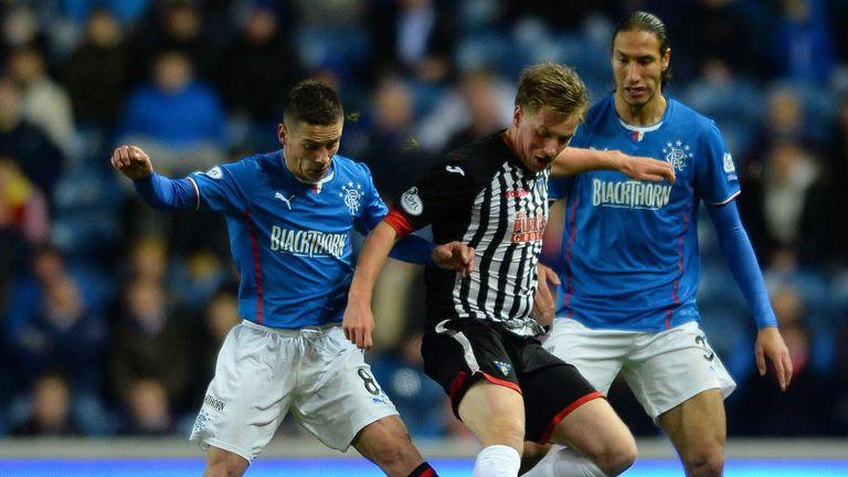 Jordan Moore: In action for Dunfermline against Rangers last season