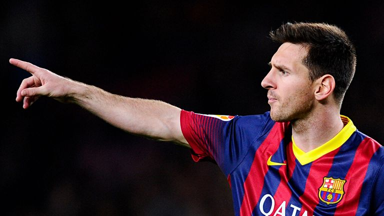 Lionel Messi: On target for Barcelona as they broke out of slump
