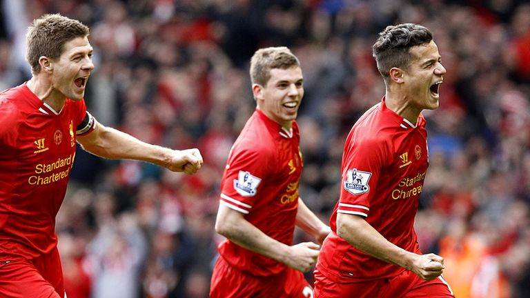 Philippe Coutinho: Scored the goal that secured all three points for Liverpool