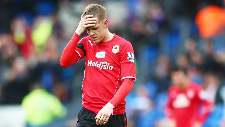 Noone: Cardiff player shows disappointment at final whistle