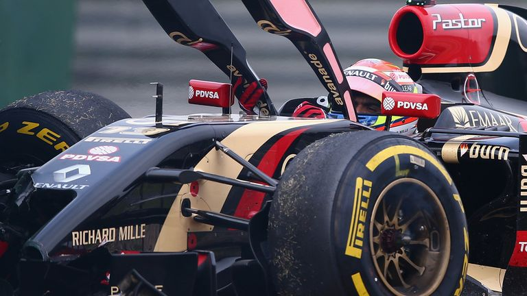Pastor Maldonado: Yet to register a point for Lotus