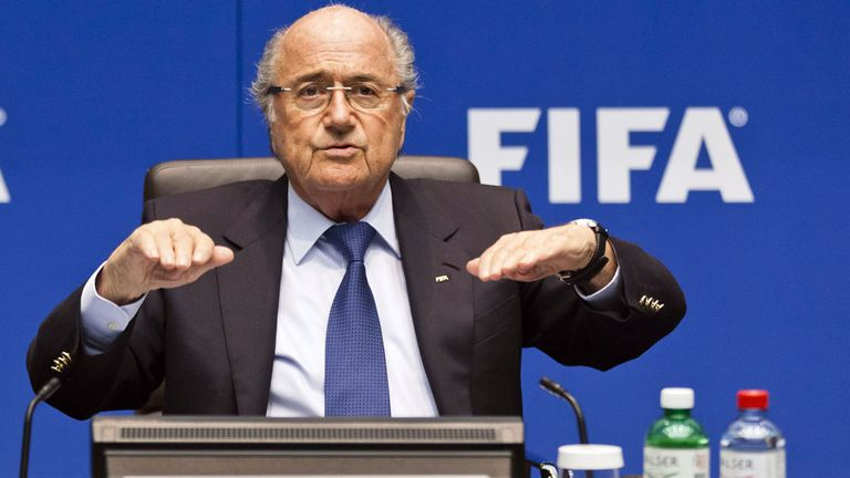 Sepp Blatter is awaiting the results of an investigation into the World Cup bidding process