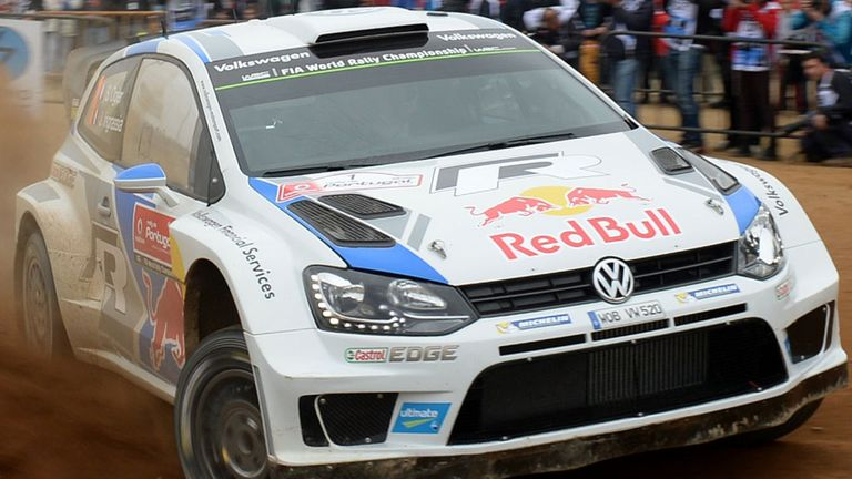 Sebastien Ogier en route to a fourth success in Portugal