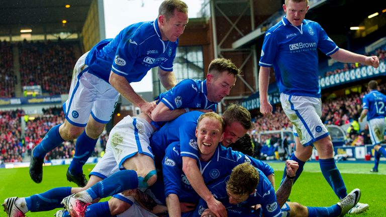 St Johnstone celebrate Stevie May's first goal