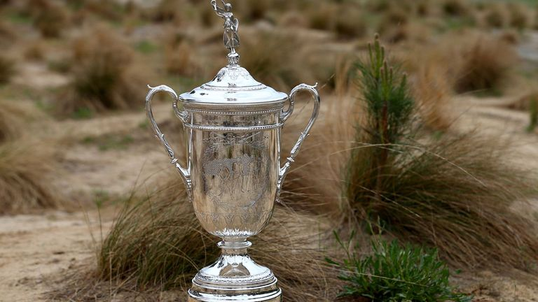 The famed US Open trophy