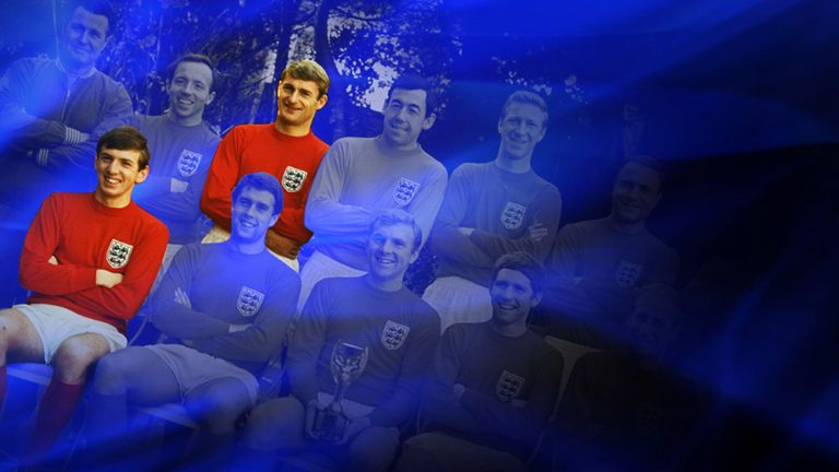 Roger Hunt (top row) and Martin Peters (bottom row) tell us what it is like to win the World Cup