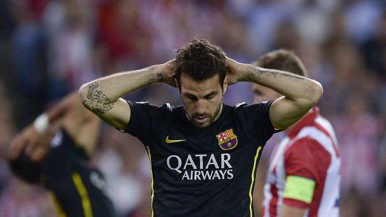 Cesc Fabregas: Couldn't prevent Barcelona from slipping to consecutive 1-0 defeats