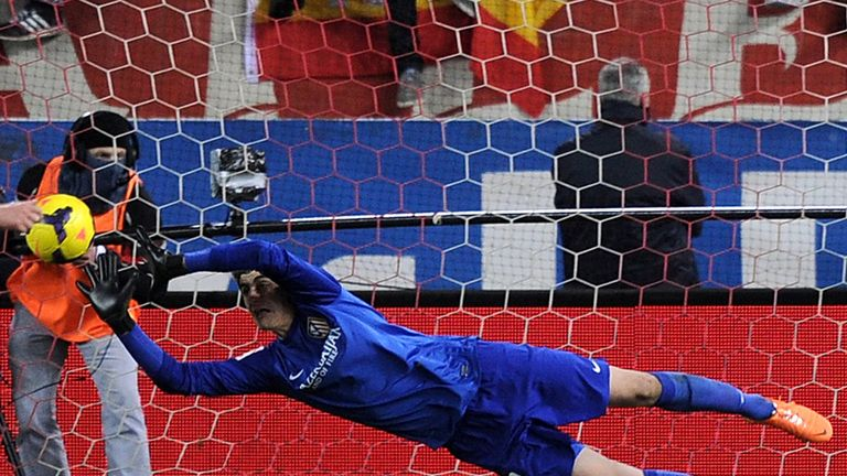 Thibaut Courtois: Goalkeeper is on loan at Atletico Madrid from Chelsea